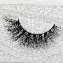visofree 3D Real Mink Eye Lashes Thick Fake Eyelash Makeup Eye Lashes Handmade Glitter Packaging 1 Pair D113