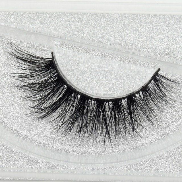 visofree 3D Real Mink Eye Lashes Thick Fake Eyelash Makeup Eye Lashes 100% Handmade Glitter Packaging 1 Pair D113