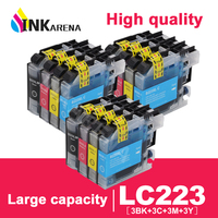 LC223 LC221 Ink Cartridge For Brother MFC J4420DW J4620DW J4625DW J480DW J680DW J880DW Printer Cartridge LC 223 Full Ink Chip
