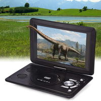 13.9inch DVD Player Car Rechargeable Battery CD Mini Swivel Screen LCD TV Game HD Home USB Portable Outdoor