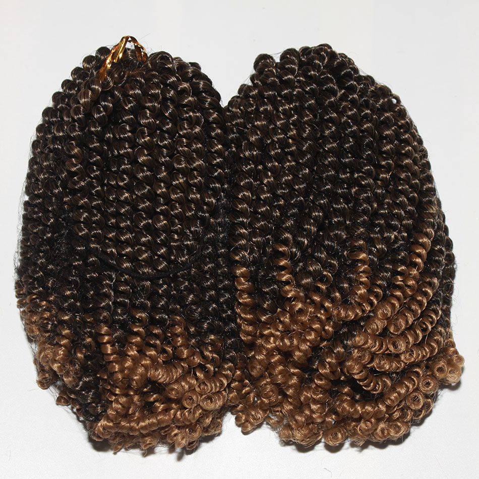 Qp Hair Fluffy Spring Twist Hair Extensions Black Brown Burgundy Ombre Crochet Braids Synthetic Braiding Hair