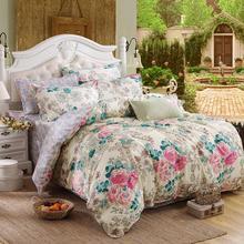 Dream NS 4Pcs Bohemian Bedding Set Soft Polyester Bed Linen Duvet Cover Pillowcases Bed Sheet Sets Home Textile Queen Coverlets