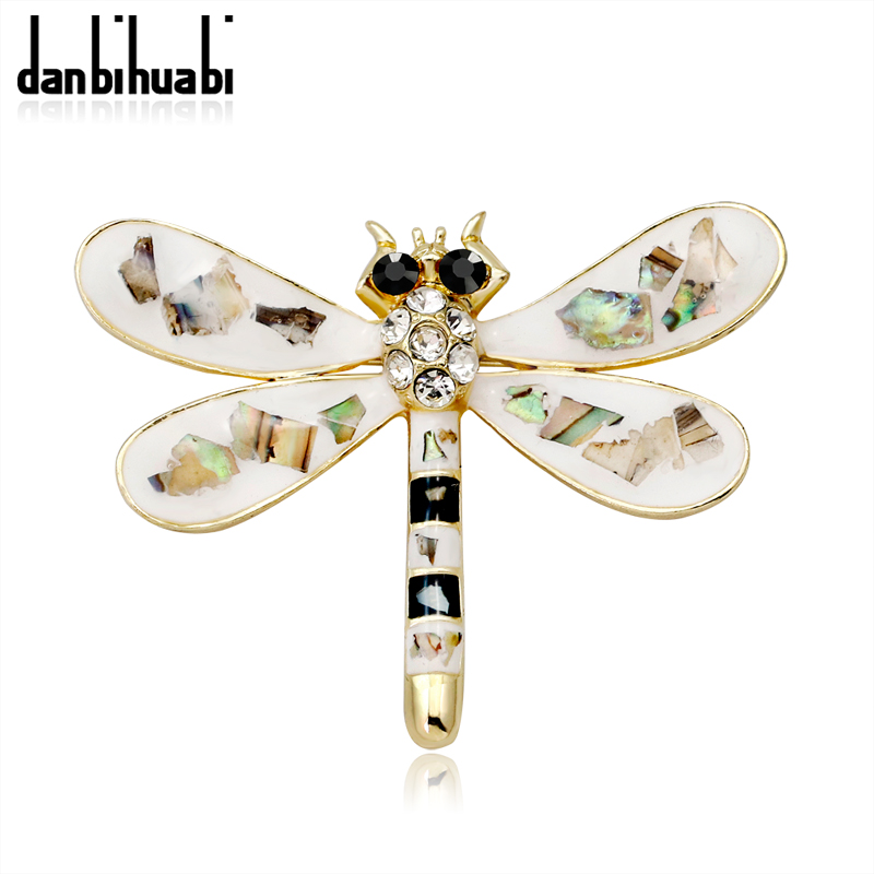 2018 Hot Sale high quality silver dragonfly brooch vintage rhinestone insect brooch for women dress suit jewelry accessories