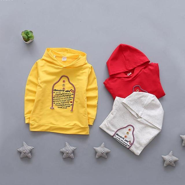68bf34e2305d Spring Summer Children s Sweatshirts 100% Cotton Boys Girls Hoodies ...