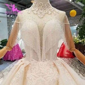 Image 3 - Aijingyu rendas vestidos de casamento vestido de noiva personalizado branco vestidos loja online china vestido de casamento