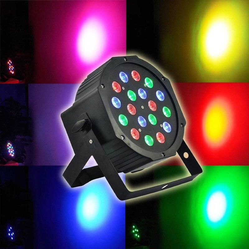 LED Stage Lights RGB PAR LED DMX Stage Lighting Effect DMX512 Master Slave Led Flat Equipment Controller For DJ Disco Party KTV 8pcs lots 18x3w led par lights rgb flat par dmx512 control ac90 240v professional stage dj equipment 100
