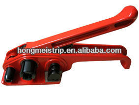Manual plastic belt strapping tools tensioner D330,strapping welding cutting sealer equipment,package carton packing machinery