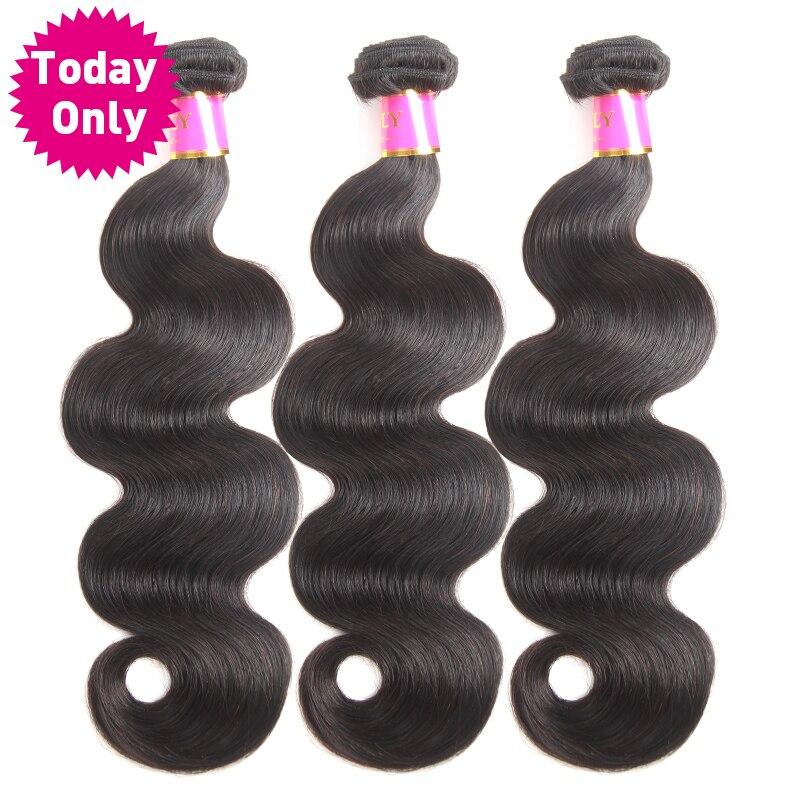 [TODAY ONLY] Brazilian Body Wave 3 Bundles Deals Remy Human Hair Extensions Natural Brazilian Hair Weave Bundles 100g Per Bundle