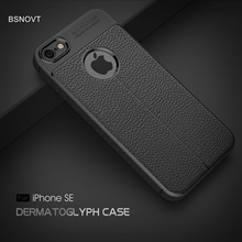 For iPhone SE Case Soft Leather Shell Anti-knock Shockproof Bumper Cover 5C 5 5S Funda BSNOVT