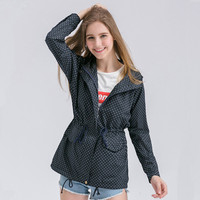 OLGITUM Women Jacket High Quality Warm Navy Military Parka Trench Hooded Coat Jacket Plus Size Tops