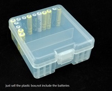 10pcs/lot Transparent Hard Plastic Case AAA Battery Storage boxes Holder Organizer Container For 100 batteries