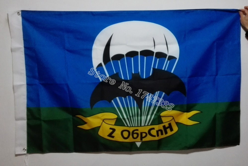 Airborne Troops Russian Army Flag Hot Sælg Varer 3X5FT 150X90CM Banner messing metal huller AT11