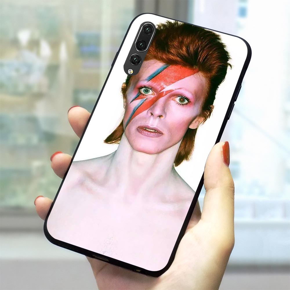 David Bowie Soft TPU Case for Huawei Nova 4 Phone Cover for 6A 7A X C 8 Lite honor 9 10 Note Y6 Y7 Prime 2018 Y9 3 3i Cases in Fitted Cases from Cellphones Telecommunications