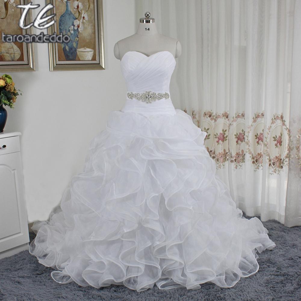 Embellished Organza Wedding Dress