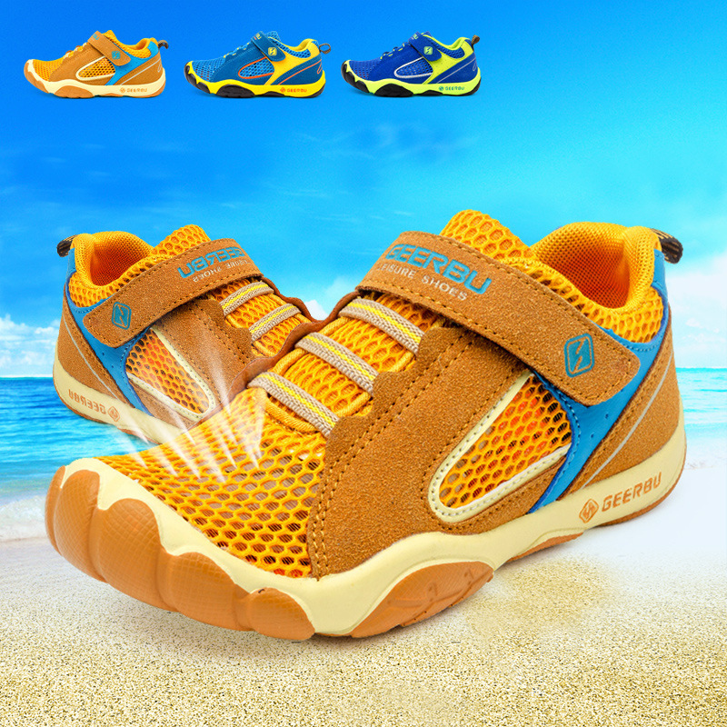 Hot Sale 2017 Summer Mesh Children sneakers cowhide leather child casual shoes fashion sport shoes boys