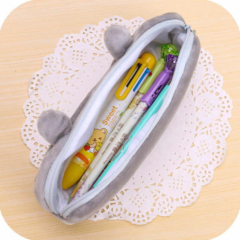 1 pièces Animal crayon sac en peluche animaux en peluche éléphant jouet enfants dormir dos coussin mignon éléphant bébé accompagner cadeau