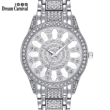 Dreamcarnival 1989 New Crystal Dial Luxury Quartz Watch for Women Fashion Clock 3 Hand Factory Direct Bahrain Hot Selling A8265C