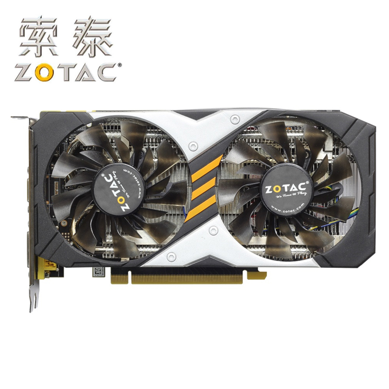 Original ZOTAC Video Card GTX960-2GD5 Destroyer HB 128Bit GDDR5 GM206 Graphics Cards GPU Map PCI-E <font><b>GTX</b></font> <font><b>960</b></font> 2G GTX960 2GD5 image