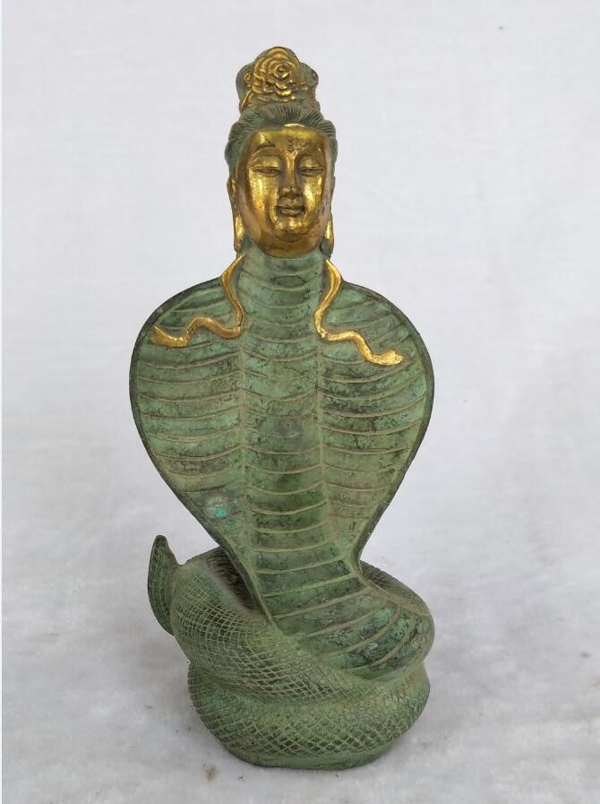 Rare Chinese Old Handmade Gilt Bronze Goddess of Sky patching Sculpture home decoration figure statue