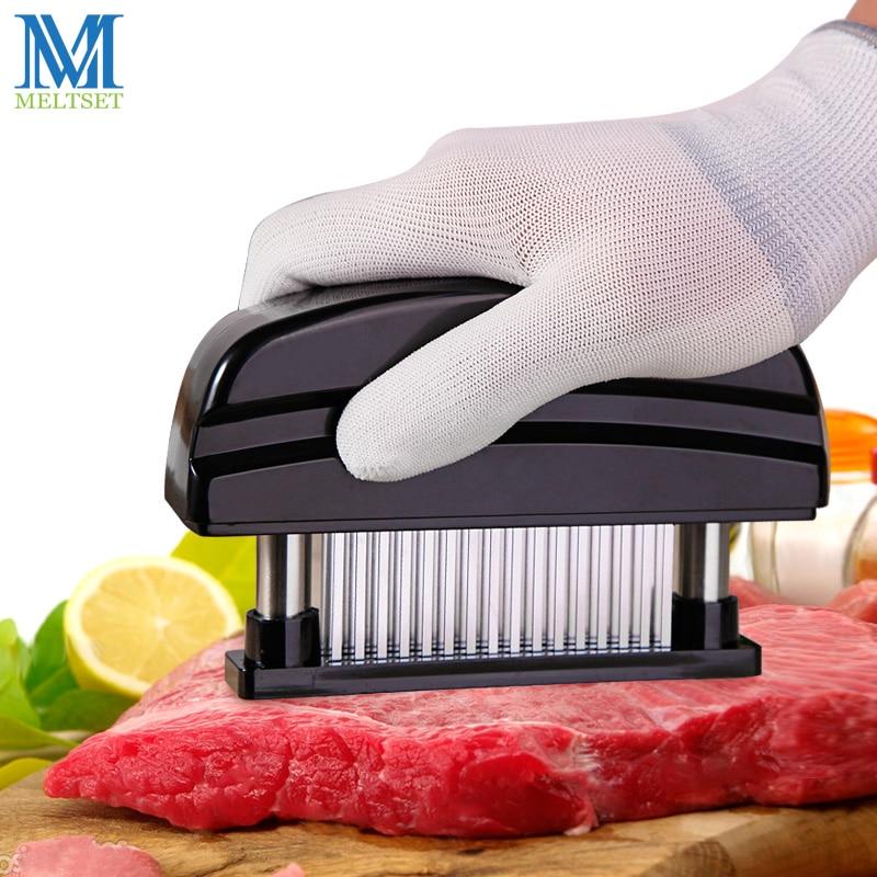 Professionelle 48 stücke Nadeln Edelstahl Fleischklopfer Küche Kochen Werkzeuge Zart Fleisch Hammer