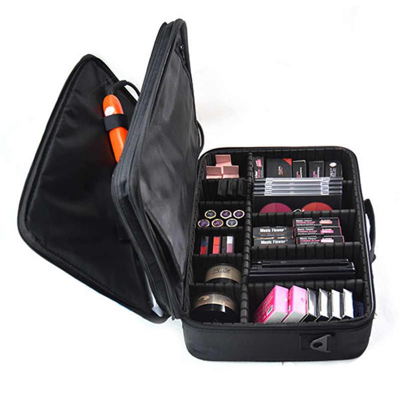 2019 Saco Mulheres Cosméticos Sacos & Casos de Maquiagem Profissional Caixa de Maquiagem Grande Capacidade de Lavagem de Alta Qualidade Oxford Feminino Coreano Sacos