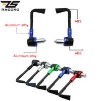 ZS Racing 22mm Motorcycle Protector Handlebar Proguard Brake Clutch Levers Handgrip CNC Aluminum ABS For Honda