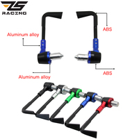 ZS Racing 22mm Motorcycle Protector Handlebar Proguard Brake Clutch Levers Handgrip CNC Aluminum ABS For Honda