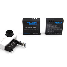 Телесин 3.85 В 1400 мАч Резервное копирование литий-на аккумулятор 2 шт. батареи для Xiaomi Yi 4 К, 4 К +, 4 К плюс Спорт экшн-камеры
