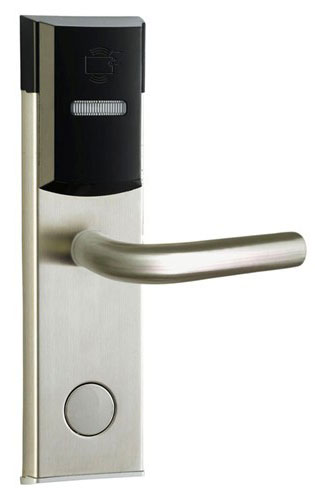 RFID T5577 hotel lock, hotel lock system, sample comes with a test T5577 card ,sn:CA-8003 rfid t5577 hotel lock stainless steel material gold silver color a test t5577 card sn ca 8006