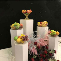 5pcs Luxury birthday Wedding Stage backdrops Metal props Dessert Table cake flower holder Welcome Area Showcase display stand