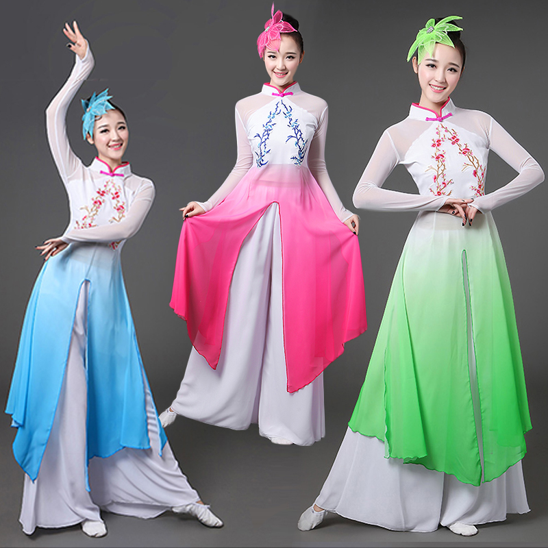 Chinese style hanfu classical dance costume female national fan traditional chinese