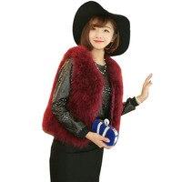 Hot Sale New 2018 Women Winter encryption 100% natural ostrich feathers turkey feather fur vest vest fur coat Fur vest