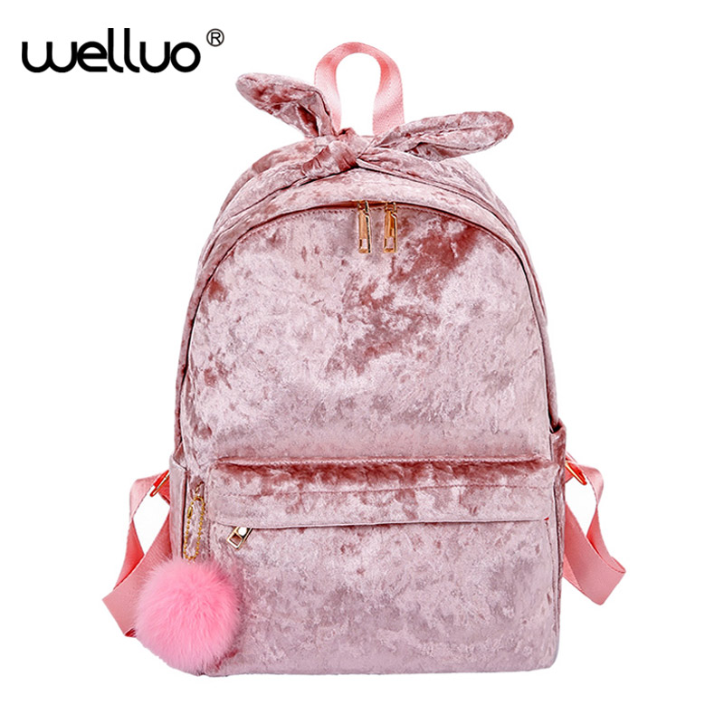 Brand Sweet Women Backpack Velour Rucksack Velvet School Backpacks For Teenage Girls Casual Large Capacity Shoulder Bag XA517WB Brand Sweet Women Backpack Velour Rucksack Velvet School Backpacks For Teenage Girls Casual Large Capacity Shoulder Bag XA517WB