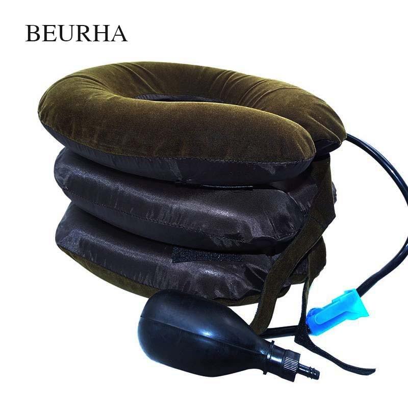 Air Cervical Soft Neck Brace Device Headache Back Shoulder Pain Cervical Traction Device Comfortable Neck Massage Relaxation цена