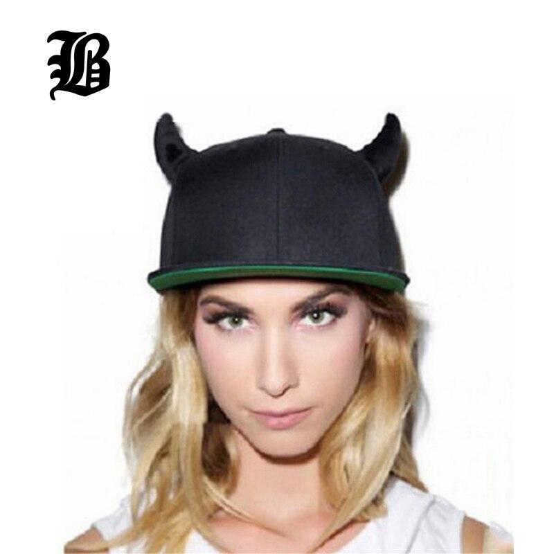 [FLB] 2015 Fashion Men Womens Bones Gorras Snapbacks Whiteboard Little Devil Horns Ears Hip Hop Cap Baseball Caps Female Hats