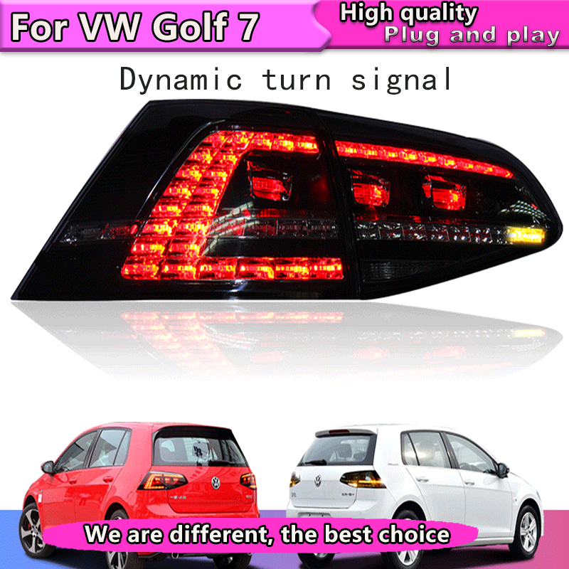 Car Styling for VW Golf 7 Tail Lights 2013 2015 Golf7 MK7 LED Dynamic turn signal Tail Light GTI R20 Rear Lamp Made in Taiwan