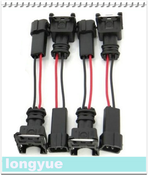 2000 jeep grand cherokee fuel injector wiring longyue 2pcs ev1 for honda acura obd2 rc dsm fuel injector ... #5
