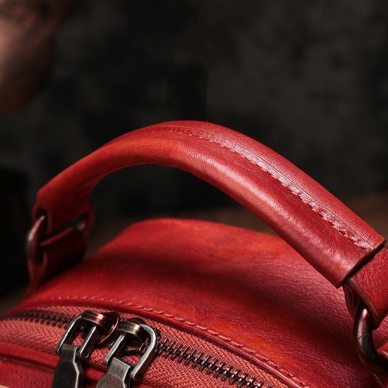 Brown Dos rouge En Main Serrure 2018 Cuir Épaule Fille À Véritable Designer Sac Classique blue Femmes Simple Pour Marque Vintage TF31JclK