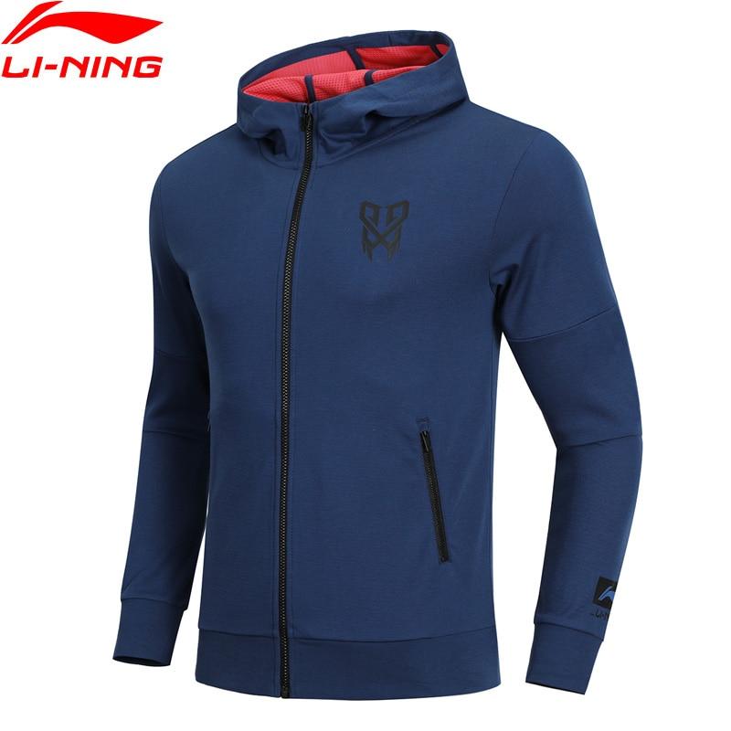 Li-Ning Men CBA Basketball Sweater Hoodie Slim Fit 74% Cotton 26% Polyester Li Ning LiNing Comfort Sports Coat AWDN341 MWW1415