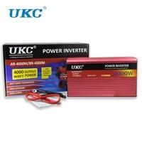UKC 2500W 3000W 4000W Car Power Inverter Converter DC 12V To AC 220V 50HZ Full Protection AC Power Inverter USB Charger Adapter