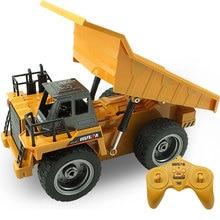RC автомобилей 2.4 г грузовик 1:12 сплава самосвал 6-канальный 4WD инженер транспортного средства зарядка через USB для детского подарка без оригинальной