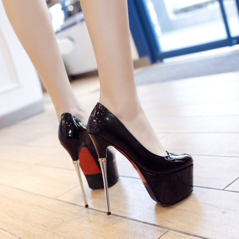 d9ba67be6a4d Brand New Sexy Shoes Extreme High Heels Ladies Pumps Stiletto Heel Platform  Shoes Wedding For Party Bridal Shoes Spring-in Women s Pumps from Shoes on  ...