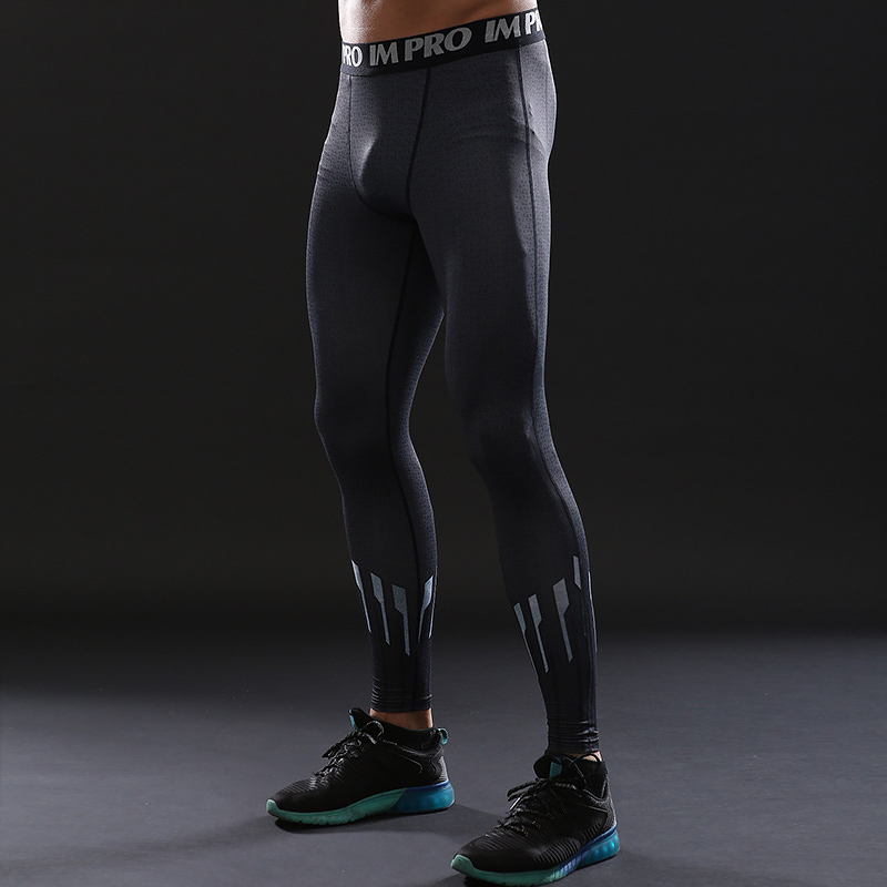 Trousers Male Leggings Printed Skinny Compression-Tights-Pants Avengers Fitness Black
