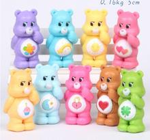 9Pcs/Lot Japanese Anime Original kawaii Action Figure Care Bears Best Kids Toys For Boys And Girls Free Shipping