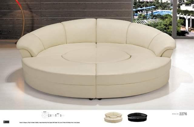 Corner Sofa Round Leather