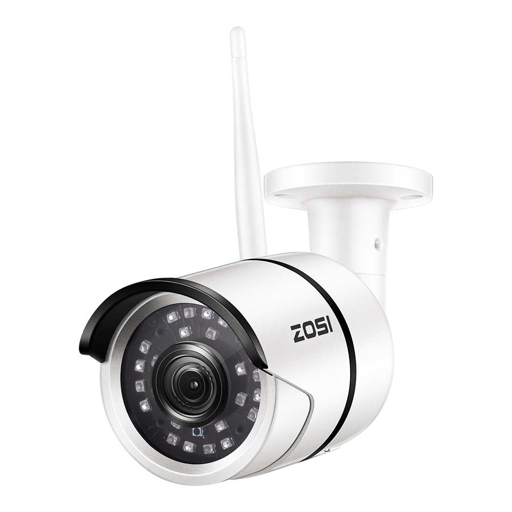 ZOSI Wireless Security IP Camera,1080p Full HD Outdoor Weatherproof WiFi IP Surveillance Bullet Camera Motion Detection Alarm