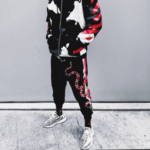 Image 4 - YEELOCA 2019 High Quality Coral Snake Print Hip Hop Trousers Harajuku Cotton Streetwear Jogger Sports Harem Pants