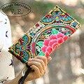 Новый Национальный Trend Этническая Вышивка Кошелек Двойной Бортовой Вышитые Цветок Монет Кошелек Сумки женские Маленькие Сумки Сумки Сцепления