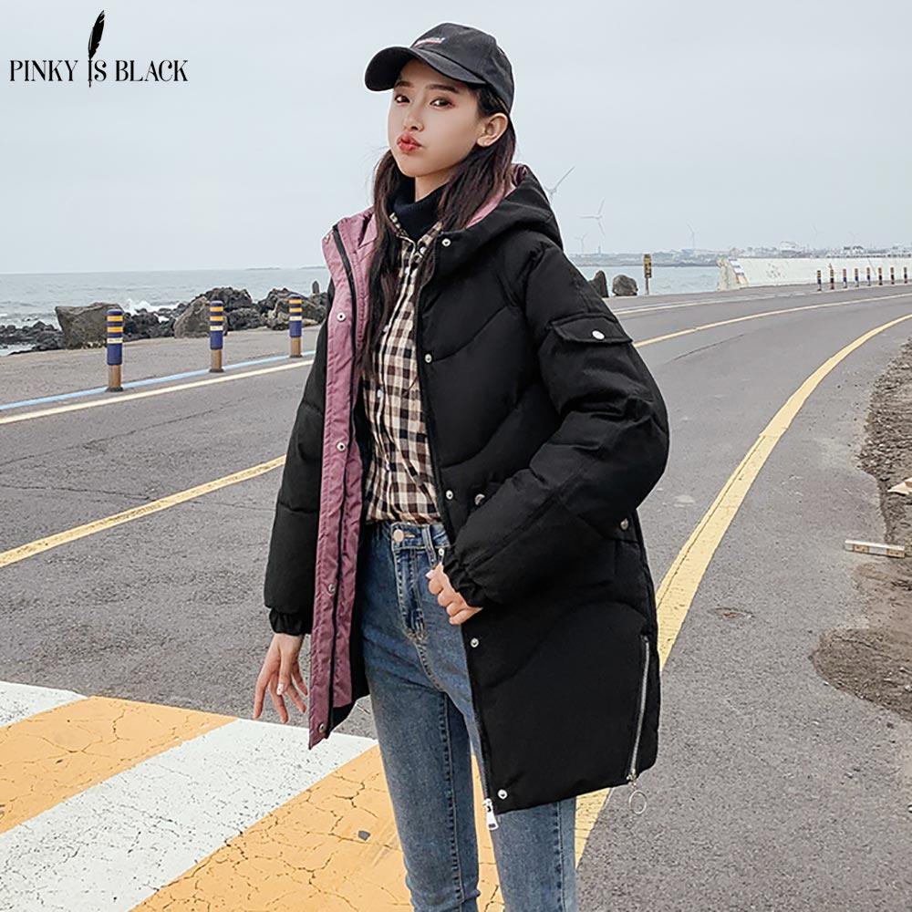 PinkyIsBlack Autumn Winter Jacket Women Coat Fashion Female Hooded Winter Jacket Women Parkas Warm Casual Plus Size Coat Jacket
