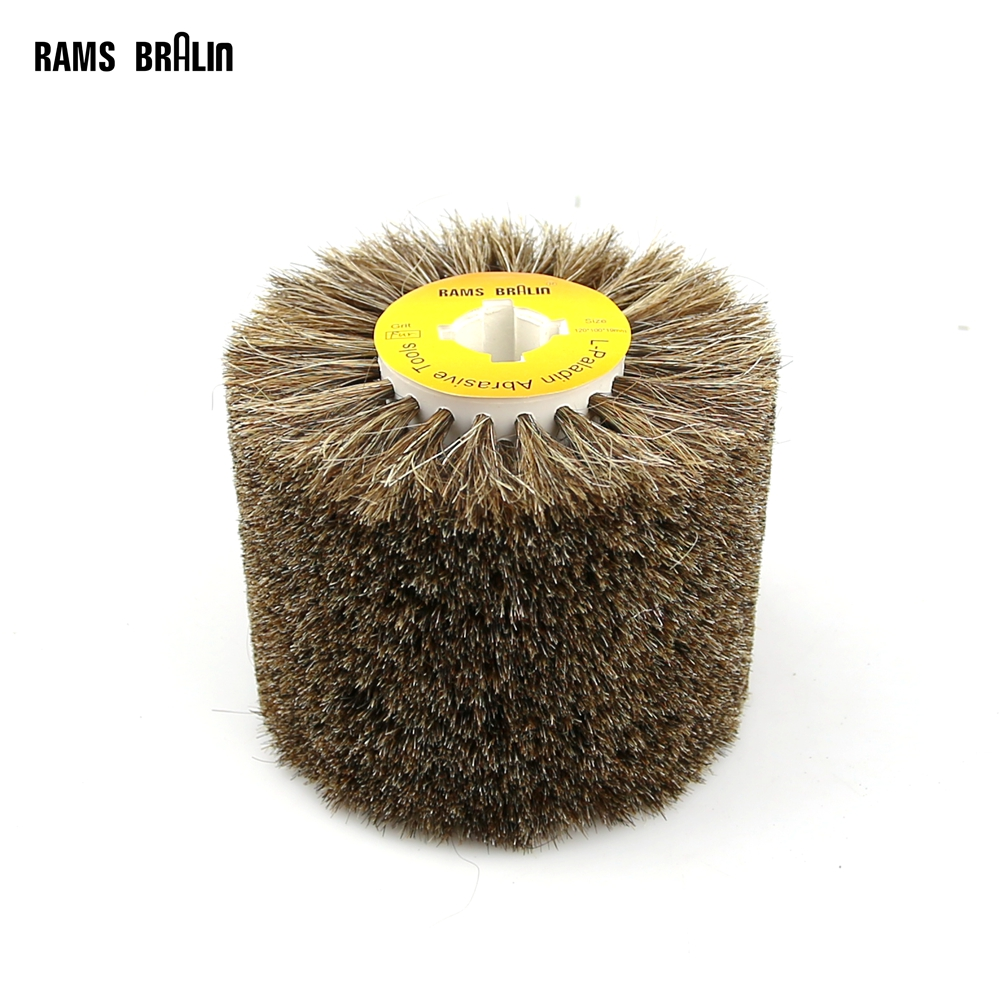 Image 2 - 1 pcs 120*100*19mm Sisal Bristle Polishing Waxing Wheel Brush for Annatto Rosewood Furniture Surface Mirror Finishfurniture wax brushespolishing wheelwheel polishing -